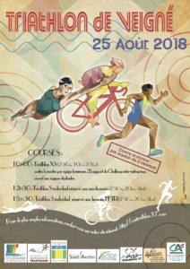 Triathlon de Veigné @ Moulin | Veigné | Centre-Val de Loire | France